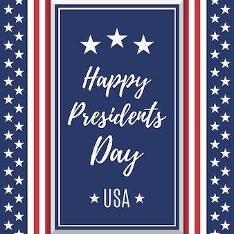 Contexte de la journée des présidents. modèle d'affiche ou de brochure. illustration.