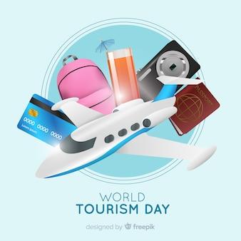 Contexte de la journée touristique dans un style réaliste