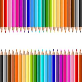 Contexte de lots de crayons de couleur