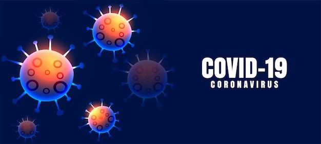 Contexte de la maladie du coronavirus covid-19 avec des virus flottants