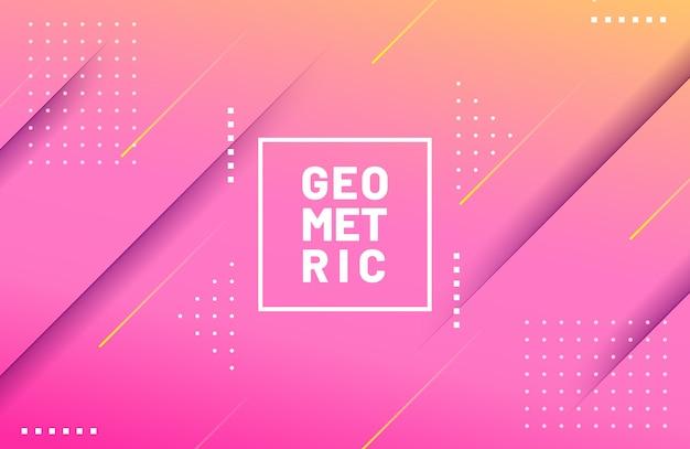 Contexte moderne avec composition de formes géométriques