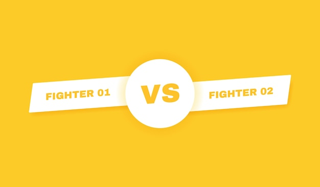 Contexte moderne contre bataille. vs titre de bataille. compétitions entre concurrents, combattants ou équipes. illustration.