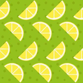 Contexte de motif de citron