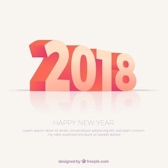 Contexte de la nouvelle année 2018