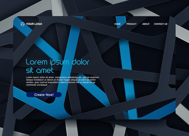 Contexte de la page de destination du site web
