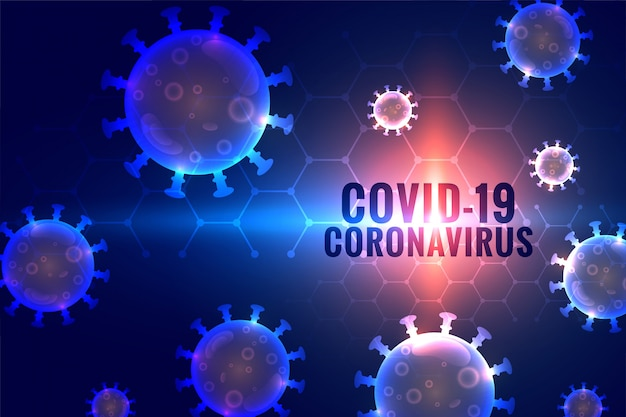 Contexte pandémique du coronavirus covid-19 avec des cellules virales