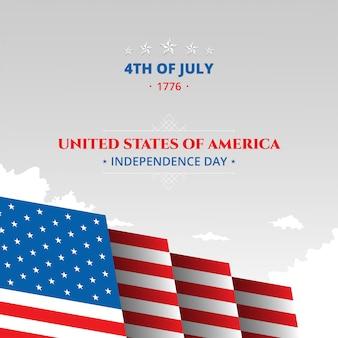 Contexte patriotique célébration de la fête de l'indépendance du 4 juillet