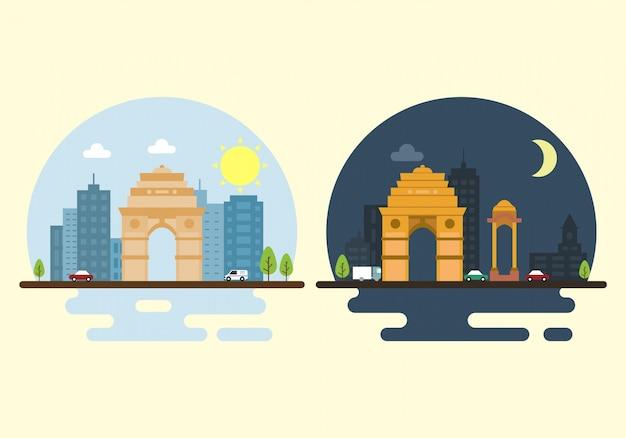 Contexte paysage de l'inde