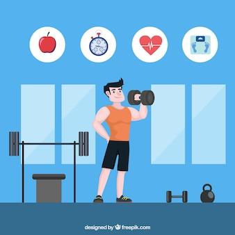 Contexte des personnes qui s'entraînent pour être en bonne santé
