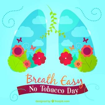 Contexte des poumons avec des fleurs