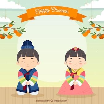 Contexte pour le festival de chuseok