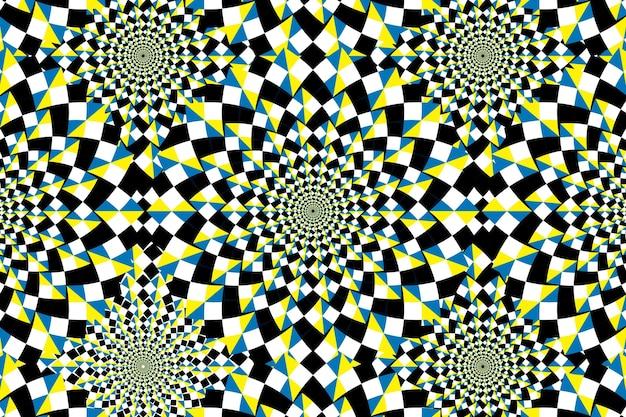 Contexte psychédélique avec illusion d'optique