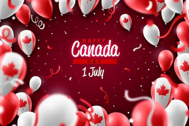 Contexte réaliste de la fête du canada