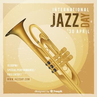Contexte réaliste de la journée de jazz internationale