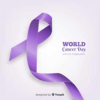 Contexte réaliste de la journée mondiale du cancer