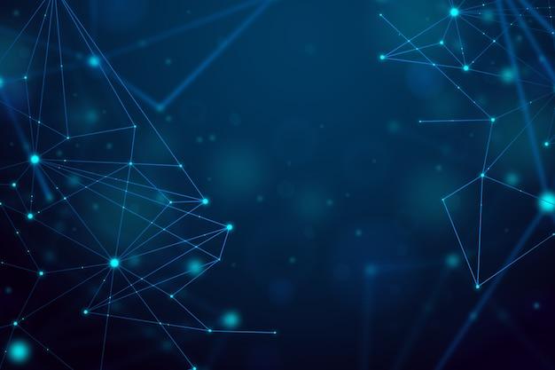 Contexte réaliste particule de technologie abstraite