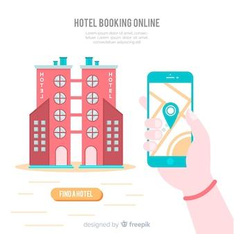 Contexte de réservation d'hôtel