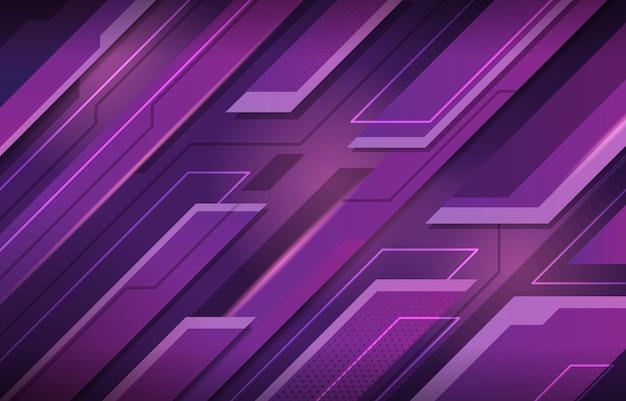 Contexte résumé moderne violet avec concept technologique