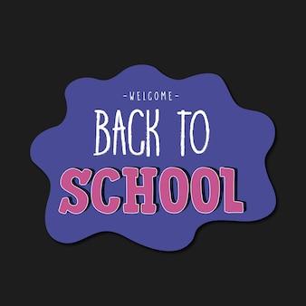 Contexte de retour à l'école.