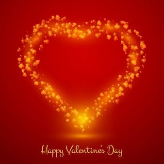 Contexte de la saint-valentin dans le style brillant