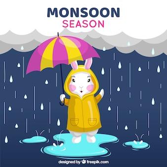 Contexte de saison de la mousson