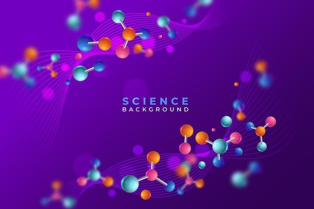 Contexte scientifique réaliste coloré