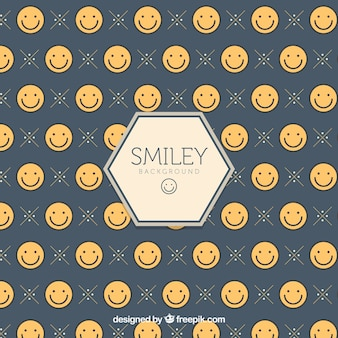 Contexte avec des smileys plats