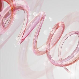 Contexte spirale rose