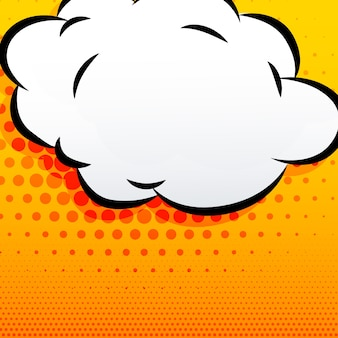Contexte de style comique en nuage de dessin animé
