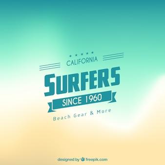 Contexte de surfeur