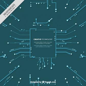 Contexte technique avec des circuits bleus