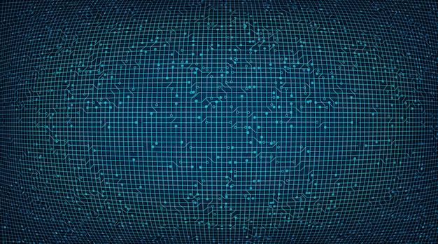 Contexte de la technologie des circuits convexes, concept numérique et réseau de haute technologie