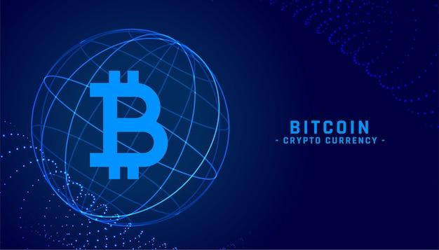 Contexte de la technologie de crypto-monnaie bitcoin décentralisée numérique