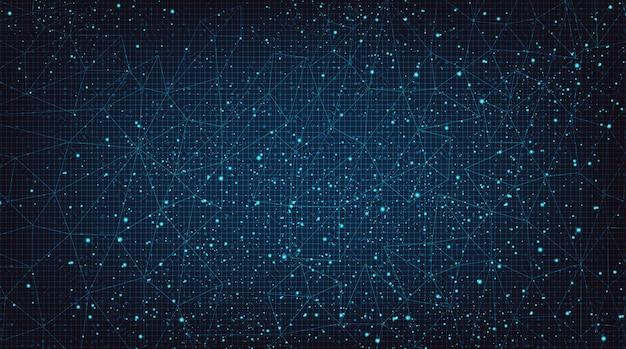 Contexte de la technologie du système de réseau numérique big data.