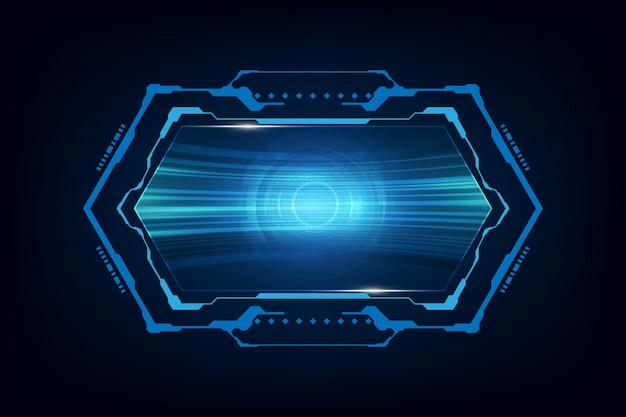 Contexte de la technologie futuriste