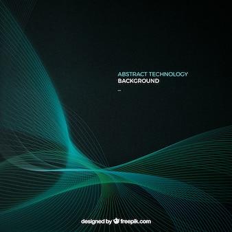 Contexte de la technologie avec des lignes vertes