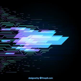 Contexte de la technologie avec des points et des lignes