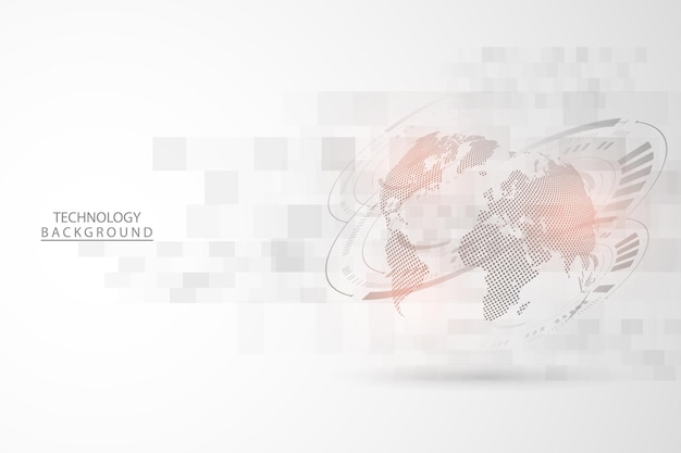 Contexte technologique abstrait concept de communication de haute technologie contexte futuriste de l'innovation numérique pour le web mondial, la connexion, la science. illustration vectorielle