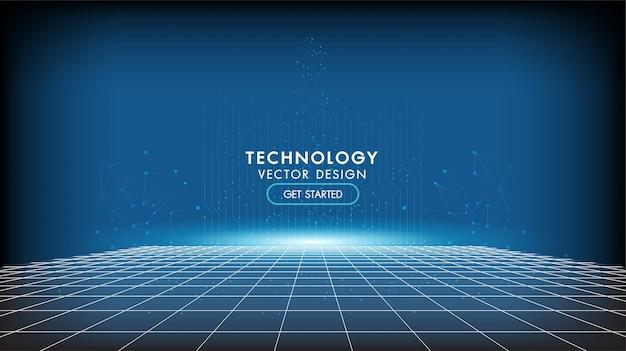 Contexte technologique abstrait concept de communication de haute technologie, technologie, entreprise numérique, innovation, illustration vectorielle de scène de science-fiction avec espace de copie.