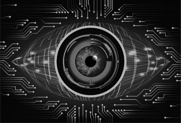 Contexte technologique de l'avenir du circuit cyber des yeux noirs
