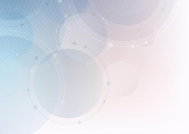 Contexte technologique avec des cercles et des lignes