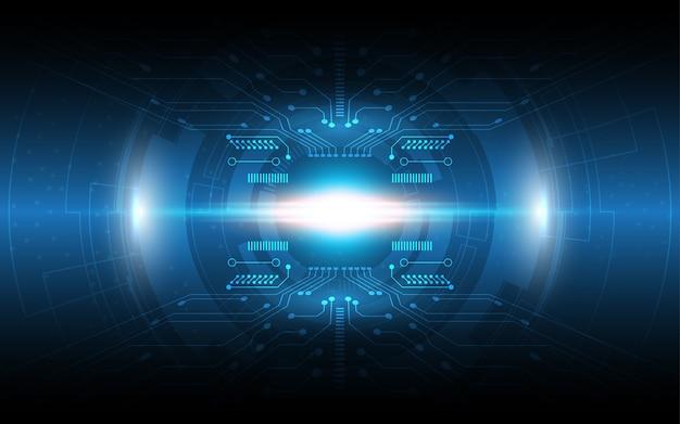 Contexte technologique concept de communication hi-tech
