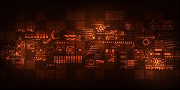 Contexte technologique dans le concept du numérique.