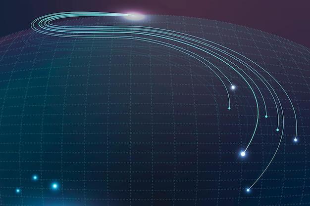 Contexte technologique avec filaire abstrait dans les tons bleus