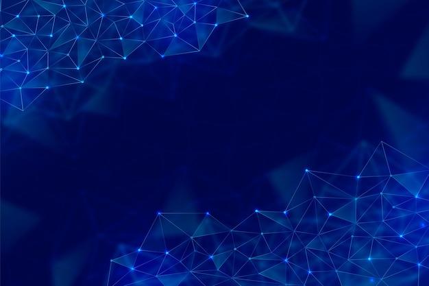Contexte technologique avec des formes géométriques