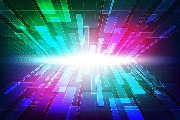Contexte technologique futuriste