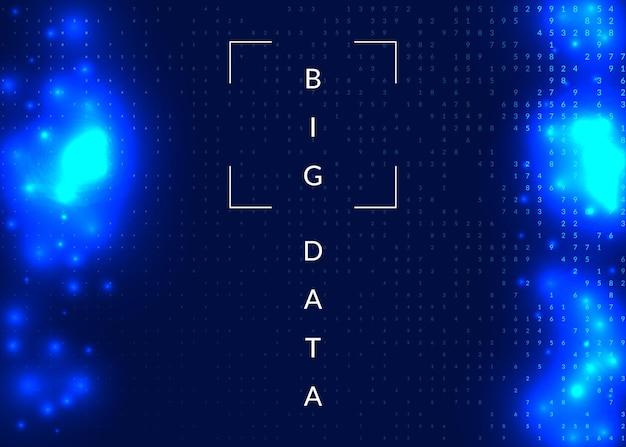 Contexte technologique de l'intelligence artificielle. technologie numérique, apprentissage en profondeur et concept de mégadonnées. visuel abstrait pour le modèle d'information. contexte technologique de l'intelligence artificielle industrielle.