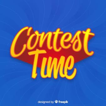 Contexte de temps de concours avec la typographie
