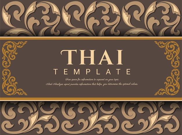 Contexte traditionnel thaïlandais