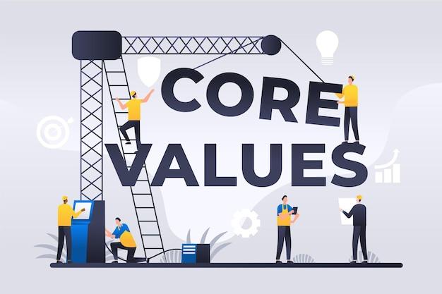 Contexte des valeurs fondamentales du dégradé